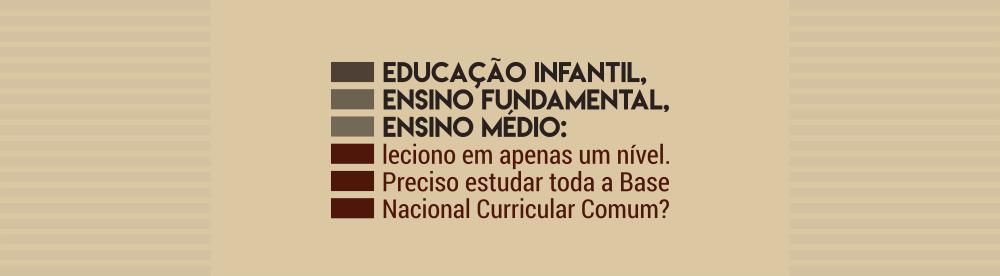 preciso estudar a base nacional curricular comum inteiraeducação infantil, ensino fundamental, ensino médio leciono em apenas um nível preciso
